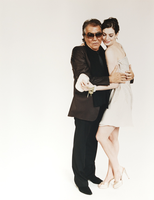 Roberto Cavalli and Anne Hathaway