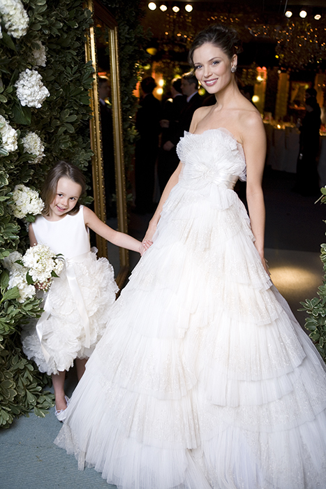 Georgina Chapman's wedding day for Vogue